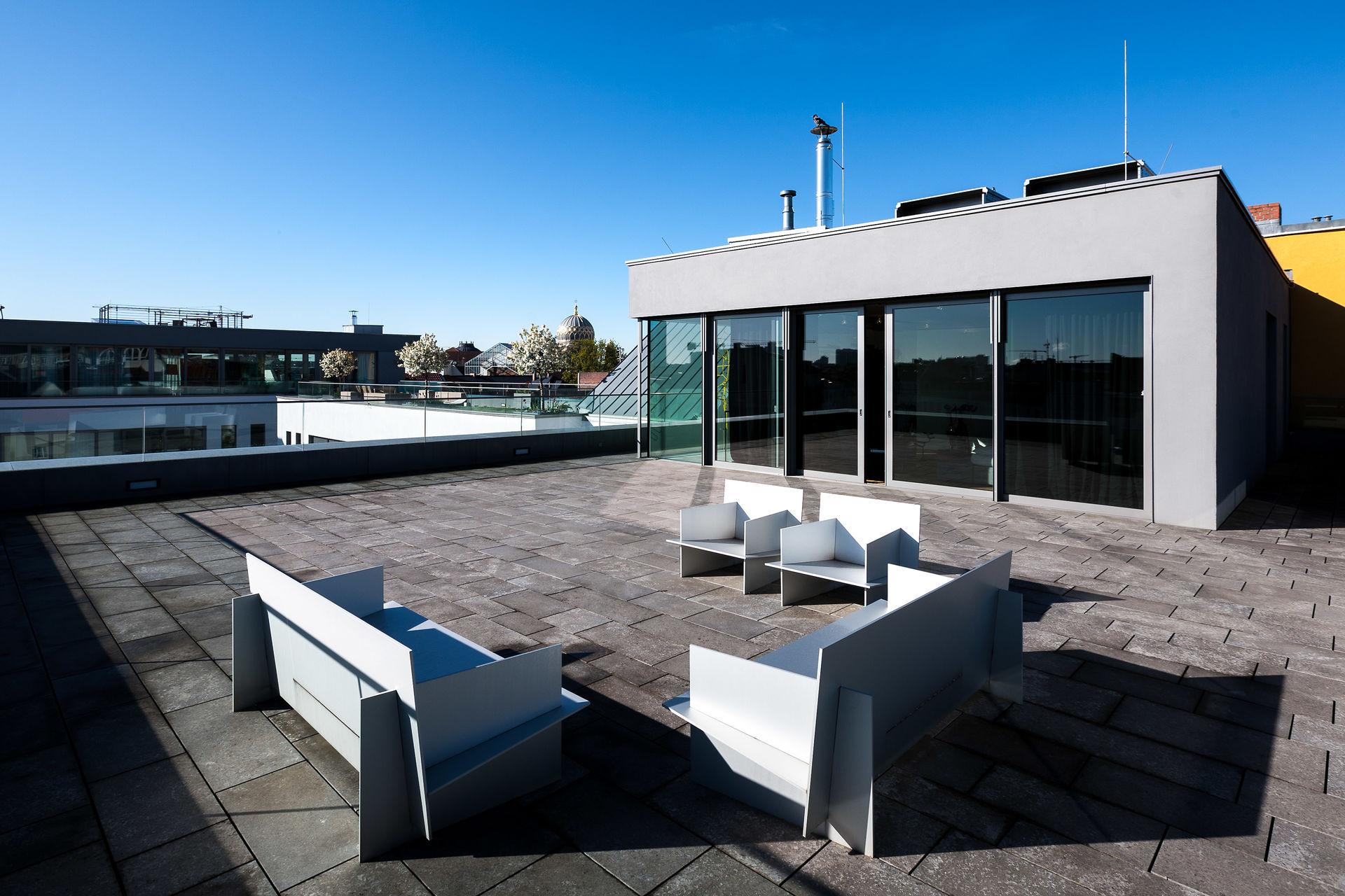Extravagantes Penthouse mit Dachterrasse in der Auguststrasse