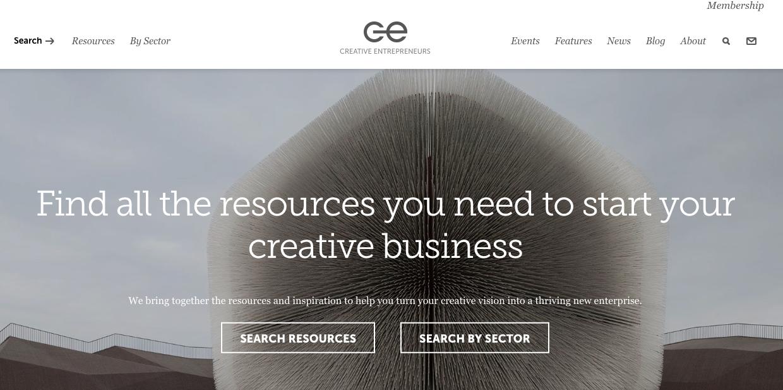 Creative Entrepreneurs website