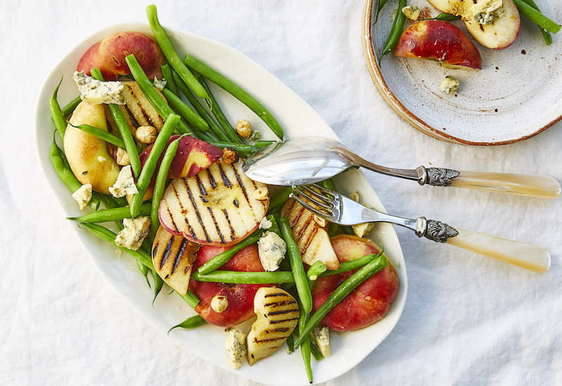 flat peach salad recipe