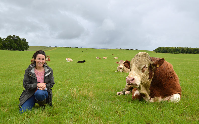 Louise Gray in the field during her Ethical Carnivore journey