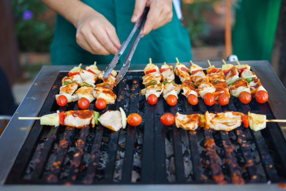 Common barbecue mistake - not soaking your skewers.