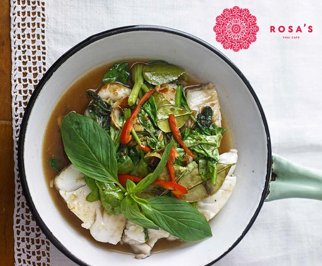 Asian recipe: Spicy Pollock & Thai Basil Stir Fry (Pla Pad Prik)