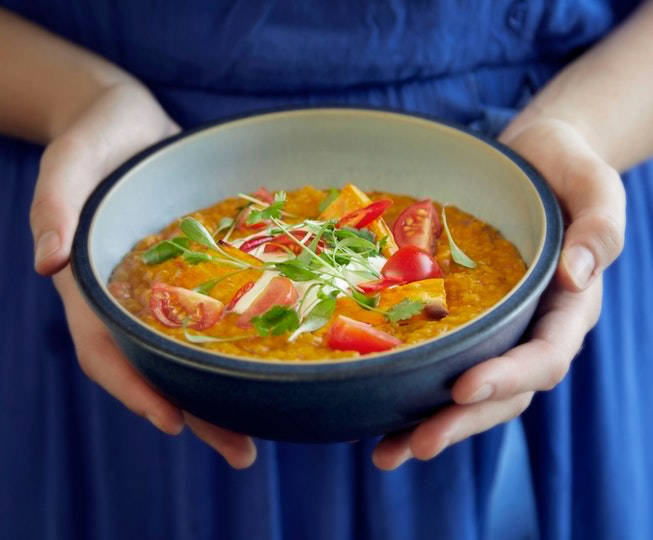 Asian recipe: Sweet Potato, Coconut and Tomato Dahl
