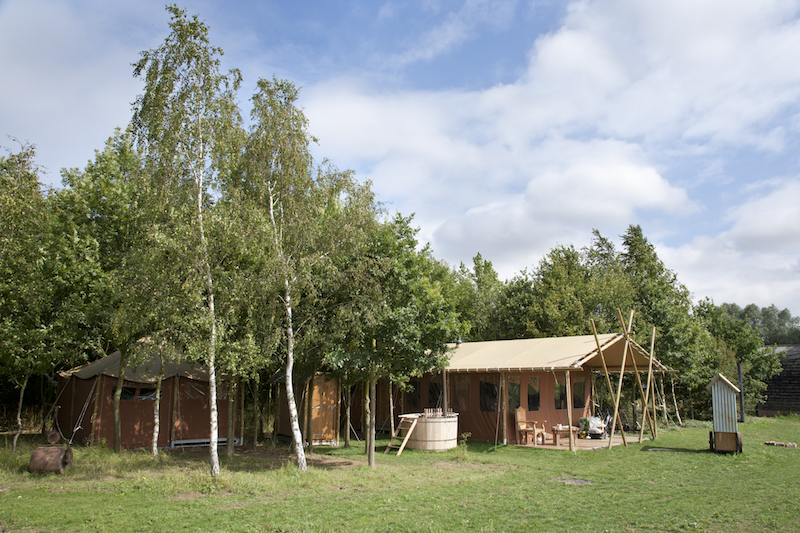 Farm holiday : a canvas lodge at Layer Marney