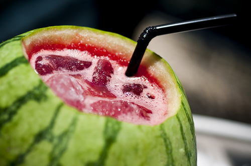 summer watermelon punch bowl