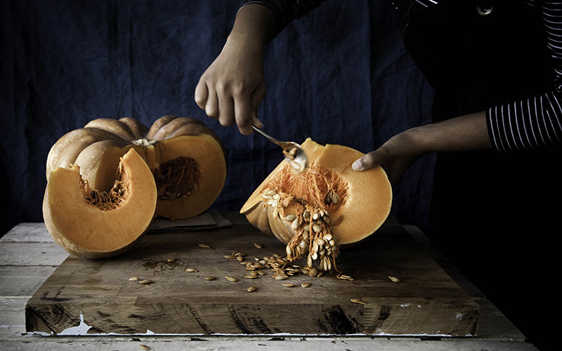 how to cut pumpkin