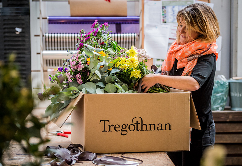 The Tregothnan Estate in Cornwall grow and source all of their British flowers from their historic gardens, meadows and surrounding land.