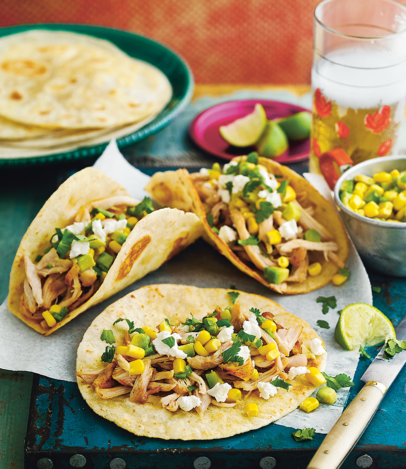 lager chicken tacos