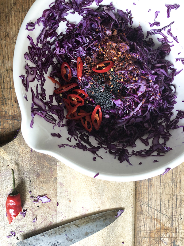 red cabbage kraut