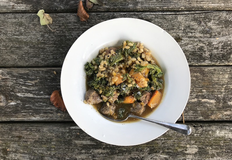 Lamb and squash stew