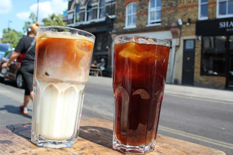 cold brew coffee at Climpson & Sons