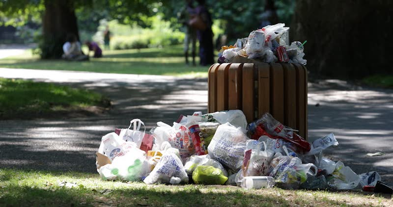 plastic pollution plastic litter parks