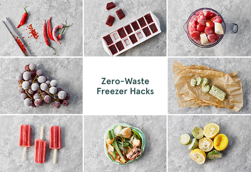zero waste freezer hacks