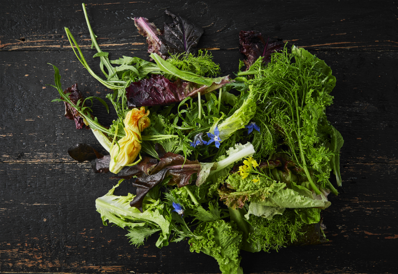 Mixed Salad Edible Flowers Farmdrop - Which British Fruit And Vegetables Are In Season In July?