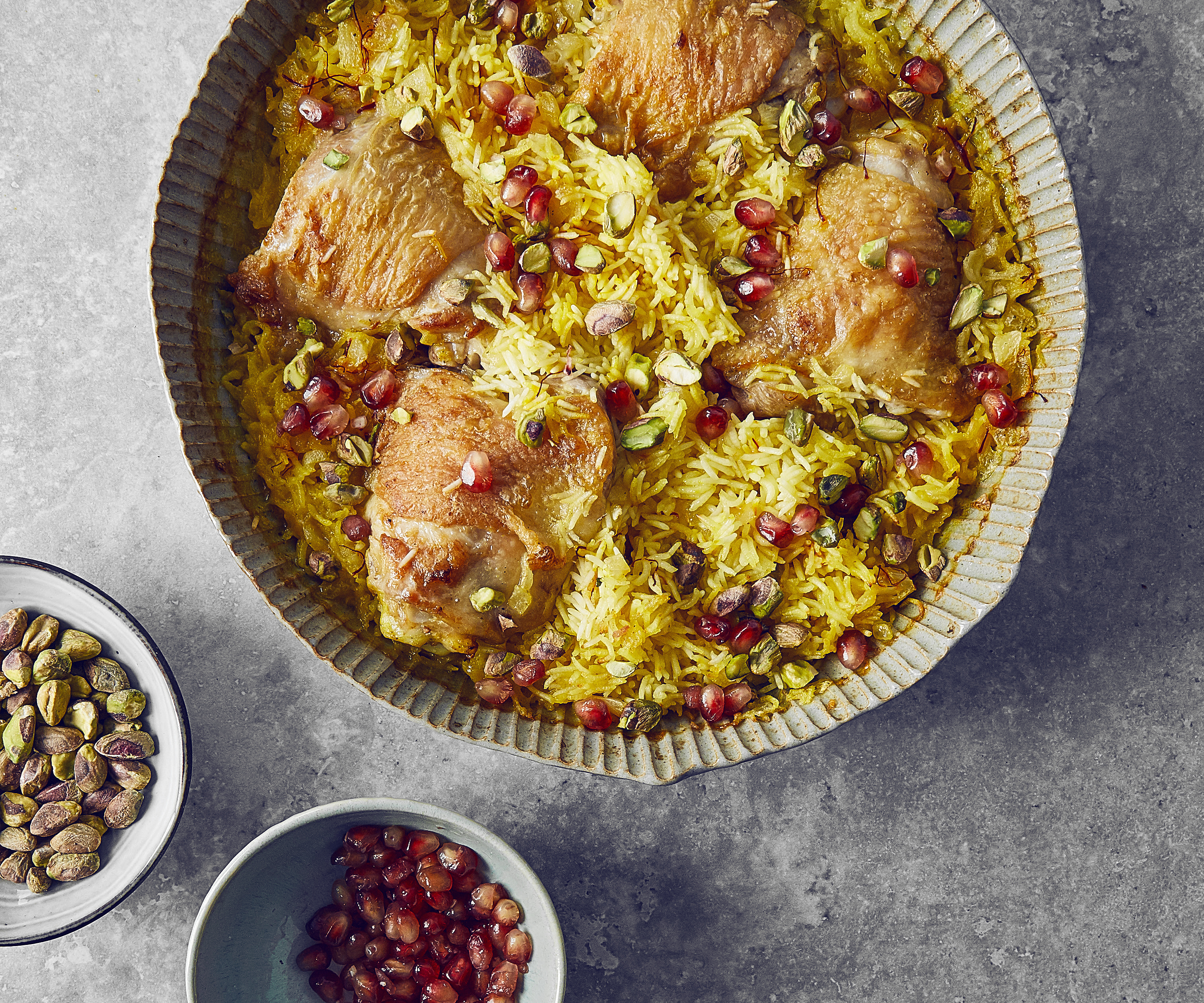 Baked Chicken and Saffron Rice
