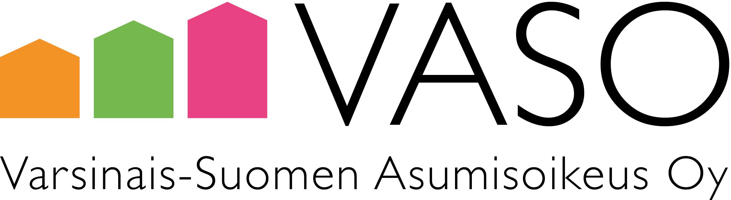 logo: VASO, Varsinais-Suomen Asumisoikeus Oy