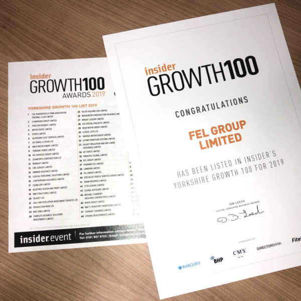 Yorkshire Growth 100 for 2019
