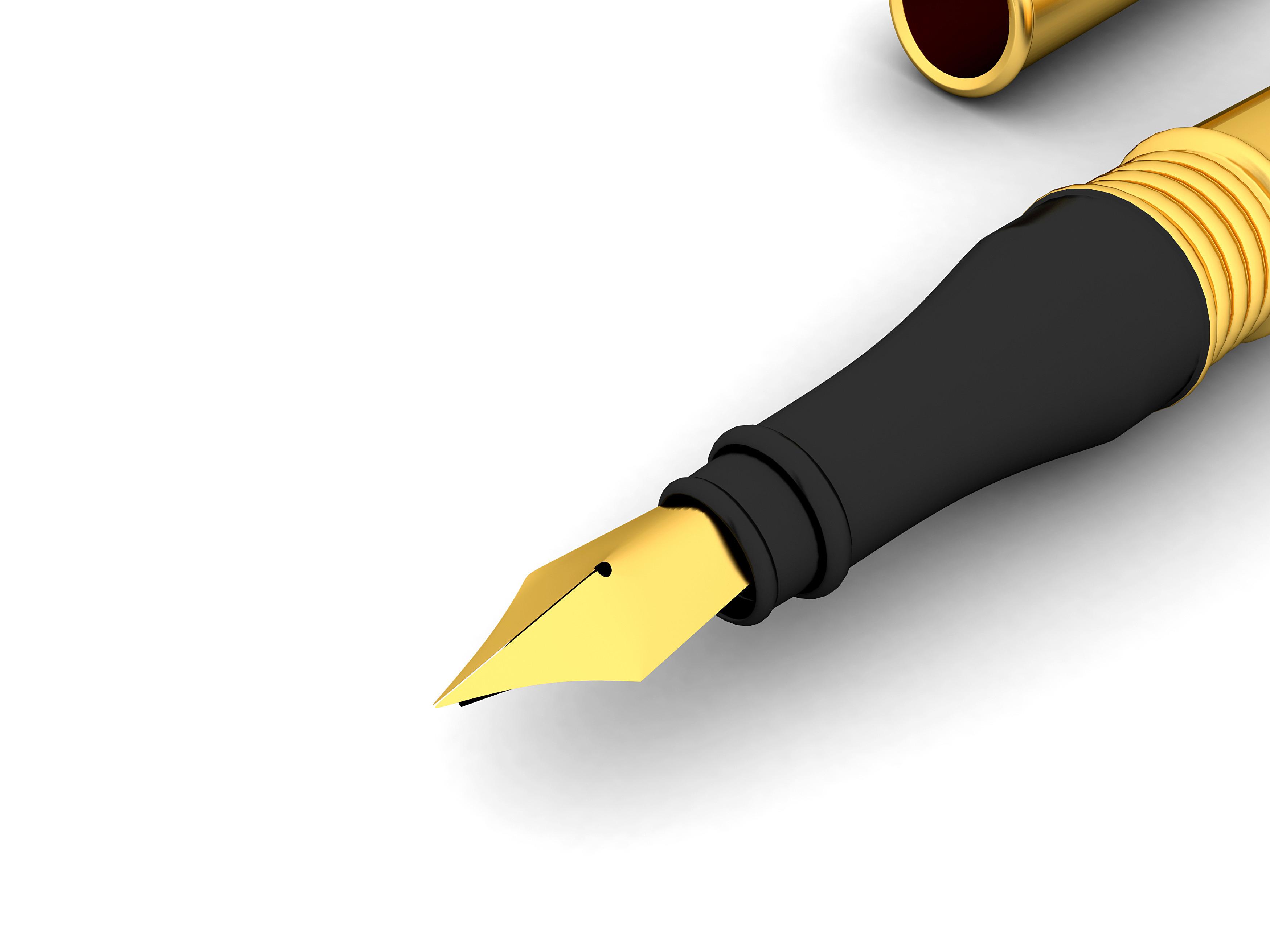 Gold Fountain Pen Mjs 08Uu