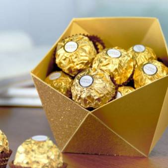 Goldene hochzeit geschenk rocher