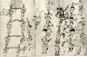 Ball de Valencians - Dibuix d'autoria desconeguda i sense datació.
