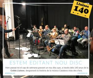 La cobla Lluïsos enregistrant (2017)