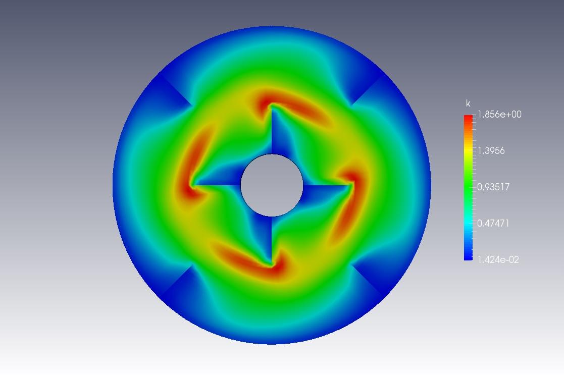Mixer Vessel 2D CFD Simulation