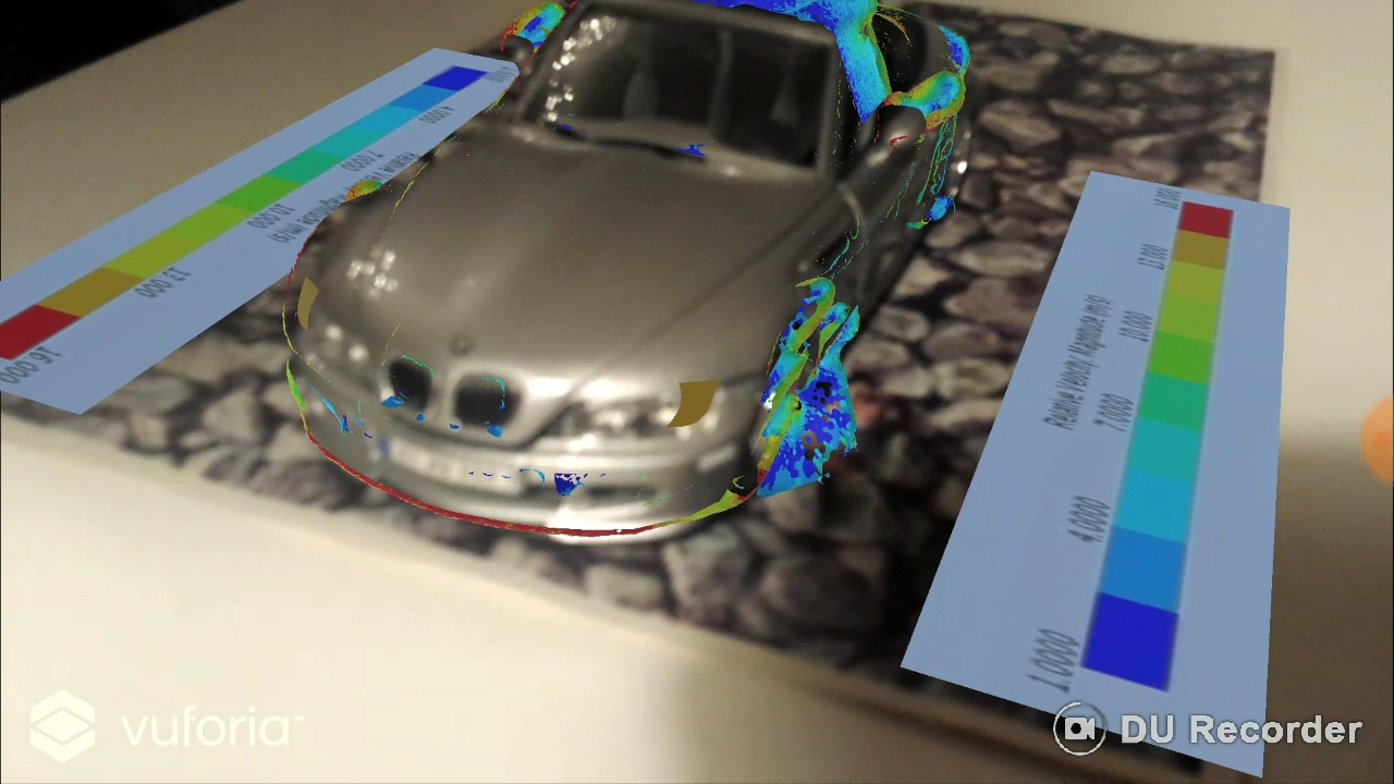 Augmented Reality Rendering On The Real Model Of A Transient Urans Cfd Simulation Of A Bmw Z3