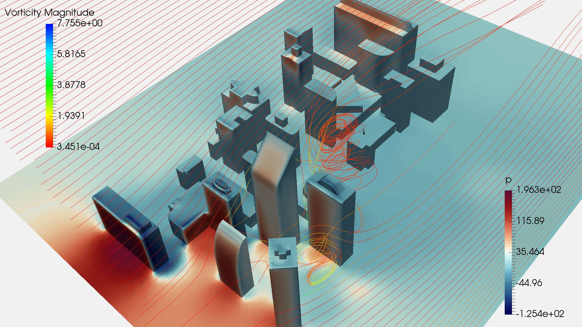 Simulating flow around city buildings with OpenFOAM