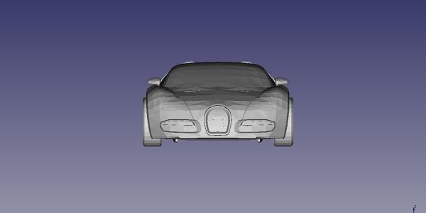 Bugatti Veyron 2008 CAD Model