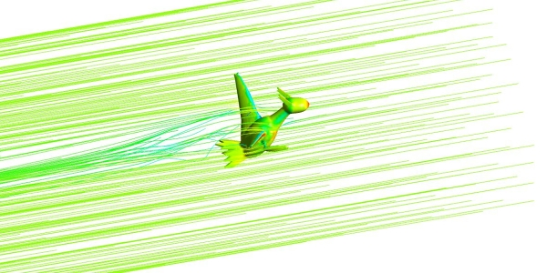 Pokemon Latios Aerodynamics Analysis
