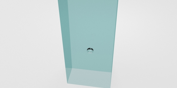 Bubble rising simulation rendered with Blender