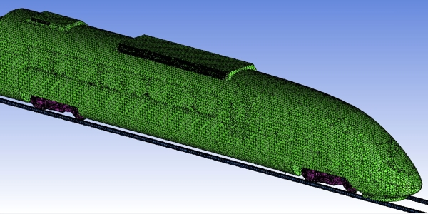 High speed train mesh for CFD