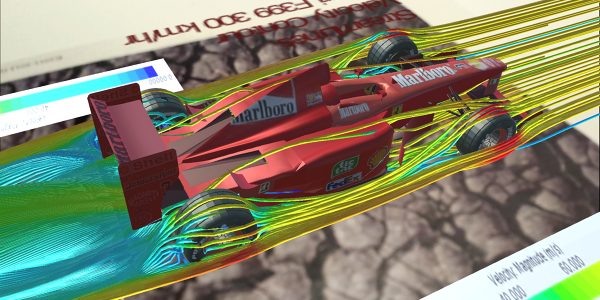 Ferrari Formula1 F399 Aerodynamics - Visualization in Augmented Reality