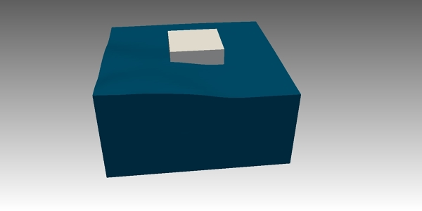 Floating Object Simulation using OpenFOAM