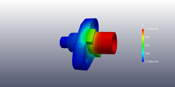 Thermal Simulation Flange