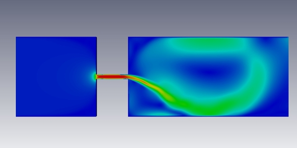 Throttle Flow Simulation