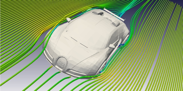 Bugatti Veyron CFD Simulation with OpenFOAM
