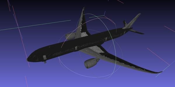 Airbus A350 MeshLab