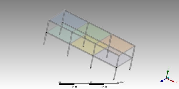 Simple Buidling Structure CAD model