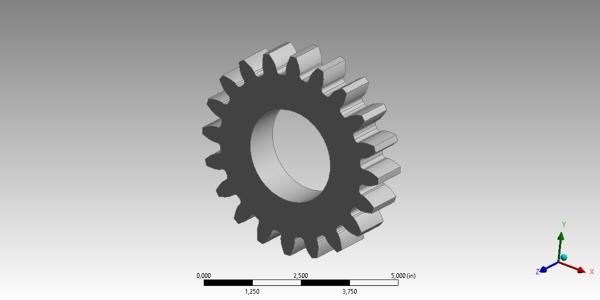 Gear CAD model