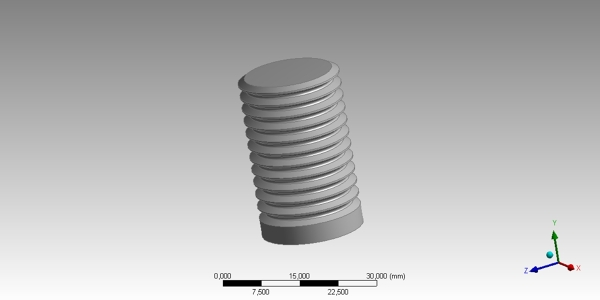 Threaded Bolt CAD