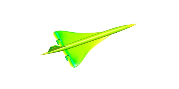 Concorde simulation with Fluent