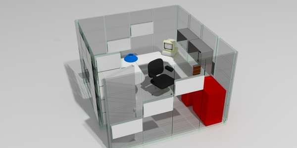 Office Space Rendering
