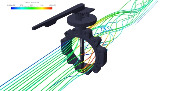 Butterfly valve simulation with ANSYS CFX