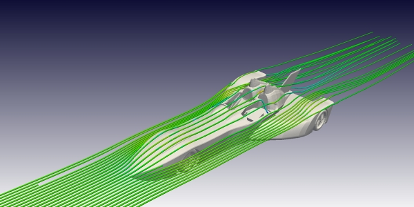 Nissan DeltaWing CFD Simulation