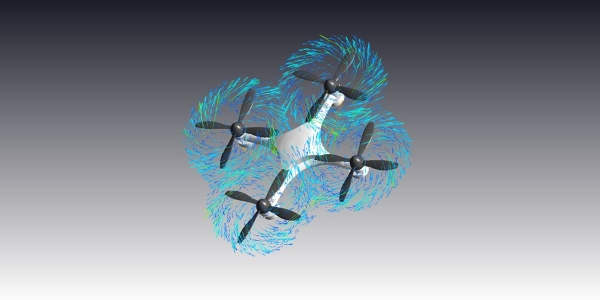 Quadcopter Drone CFD Simulation