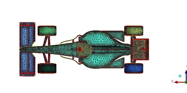 Formula One (F1) Mesh for Simulation