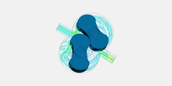 Lobe Pump CFD Simulation