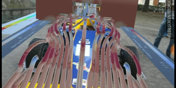 Vigo GP Formula 4 Racing Car (Tatuus-Abarth), CFD Visualization in Augmented Reality on the real scale car