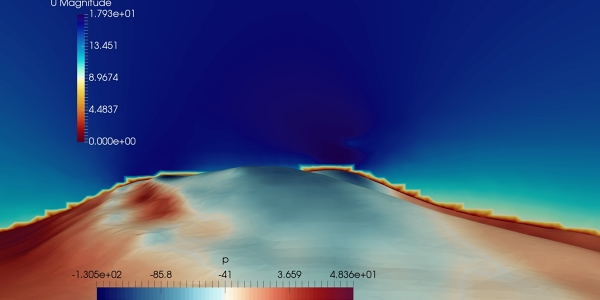 Simulating wind over a hill with OpenFOAM